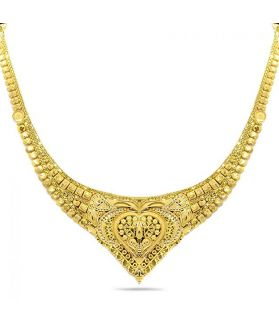 Candere 22K (916) Yellow Gold Necklace