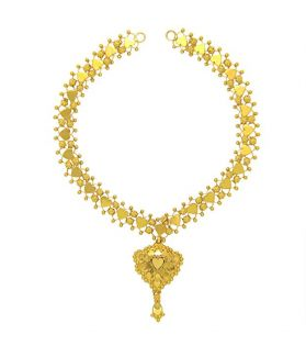 Popleys 22k (916) Yellow Gold Multi-Strand Necklace