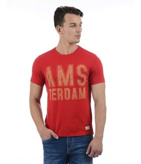 FM Men's Printed Regular Fit T-Shirt