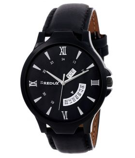 REDUX Analogue Black Dial Men's Watch
