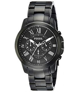 Fossil Grant Chronograph Analog Black Dial Men's Watch