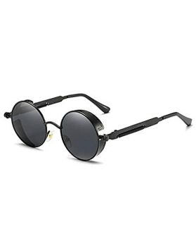 Tony Stark Round Steampunk Sun-Glasses for Men Women